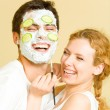 Cheerfull couple having a fun together — Stock Photo