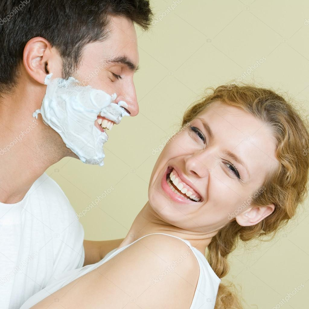 Cheerfull couple having a fun together — Stock Photo #13190470