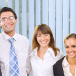 Stock Photo: Happy five businesspeople