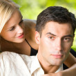 Happy couple together, outdoor — Stock Photo