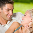 Happy couple together, outdoor — Stock Photo #14327355