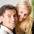 Happy couple together, outdoor — Stock Photo #14327387