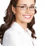 Portret van Glimlachende zakenvrouw, geïsoleerd — Stockfoto #18365935
