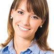 Portrait of happy smiling business woman, isolated — Stock Photo