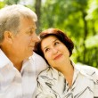 Senior happy couple embracing, outdoors — Stock Photo #23602179