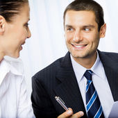 Businesspeople working at office — Stock Photo