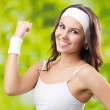 Young woman in fitness wear, outdoors — Stock Photo #31455137
