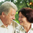 Senior happy couple embracing, outdoors — Stock Photo #31452797