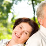 Senior happy couple embracing, outdoors — Stock Photo #31452839