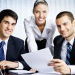 Stock Photo: Businesspeople working at office