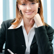 Businesswoman working with document at office — Stock Photo #39144681
