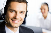 Two support phone operators — Stock Photo