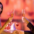 Couple with glasses of champagne on date — Fotografia Stock  #9615495