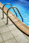 Stepladders to the pool — Stock Photo
