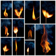 Burning matchstick — Stock Photo #40716029