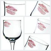 Kiss on glass — Stock Photo
