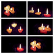 Coloured candle — Stock Photo