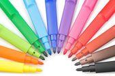Renkli işaretleyicileri — Stok fotoğraf