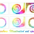 Illustrated Set of Rainbow Objects — Stock Vector #6298929