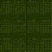 2013 green abstract calendar. — Stock Photo