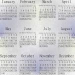 Snow calendar year 2013. — Stock Photo #18284837