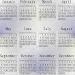 Snow calendar year 2013. - Stock Photo