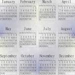 Snow calendar year 2013. — Stock Photo #18284983