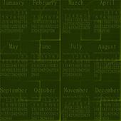 2014 green abstract calendar. — Stock Photo