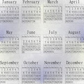 Snow calendar year 2013. — Stock Photo