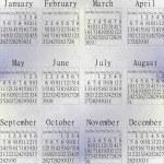 Snow calendar year 2014. — Stock Photo
