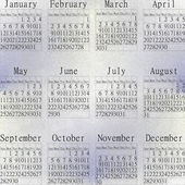 Snow calendar year 2014. — Stock Photo