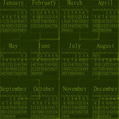 2015 green abstract calendar. — Stock Photo