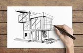 Rysunek domku — Zdjęcie stockowe