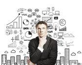 Pensieroso, uomo d'affari — Foto Stock