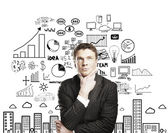 Zamyślony biznesmen — Zdjęcie stockowe
