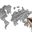 Drawing map — Stock Photo #12858513