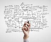 Mathematical formulas — Stock Photo