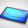 Chart in  tablet - Stock Photo