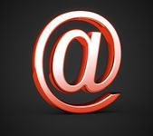 Red e-mail symbol — Stock Photo