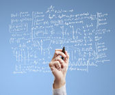 Drawing formulas — Stock Photo