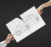 Paper with car — Stock Photo