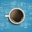 Business strategy and coffee — Stock Photo