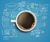 Business strategy and coffee — 图库照片