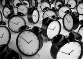 Many alarm clock — Stockfoto