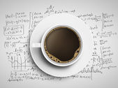 Coffee and formulas — Stock Photo