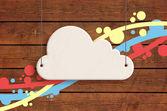 White cloud — Foto Stock