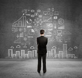 Concetto di business sulla parete — Foto Stock
