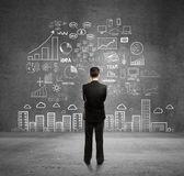 Podnikatelský koncept na zeď — Stock fotografie