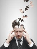 Cabeça quebra-cabeças — Foto Stock