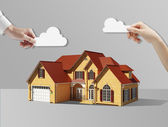 House and cloud — Stock Photo
